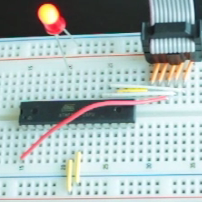 Image of joes hello world morse code LED microcontroller project
